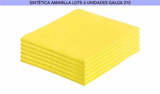 BAYETA AMARILLA 40x36 GALGA 210