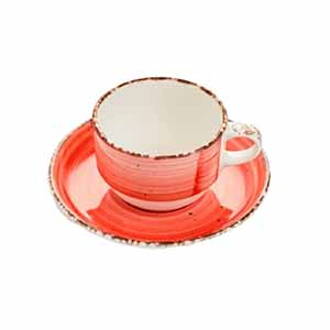 EO ROJO MOKA-CAFE PLATO 12CM