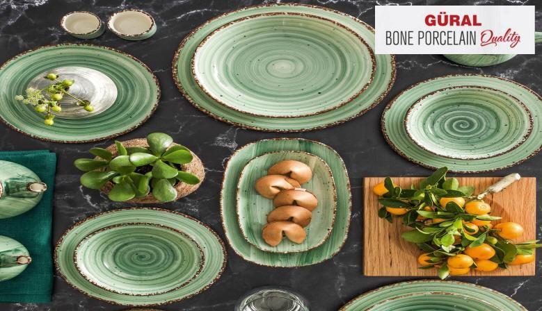Bone Porcelain Green